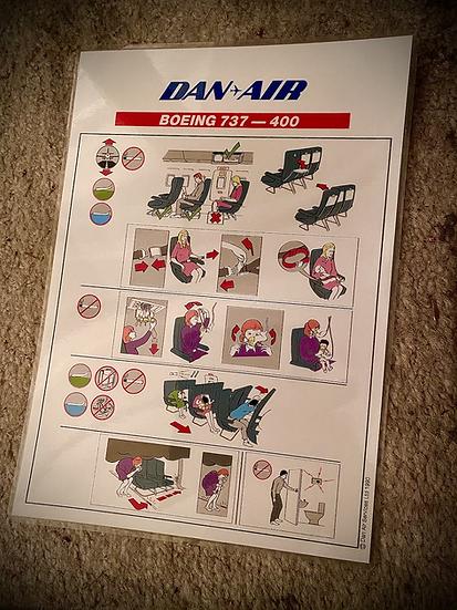 Dan Air 737-400 safety card