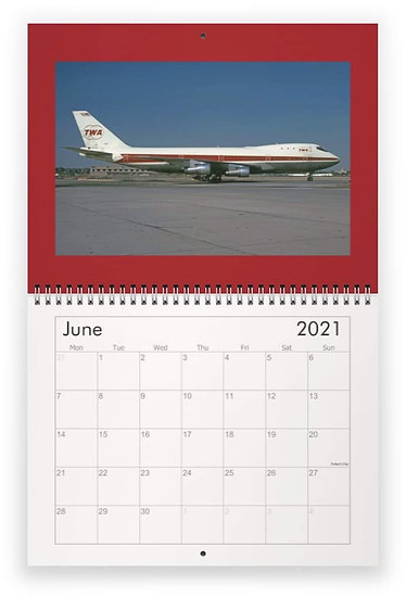 TWA wall calendar