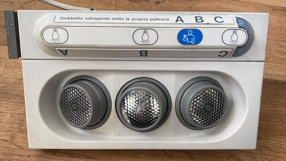 Alitalia A321 PSU light and call bell panel