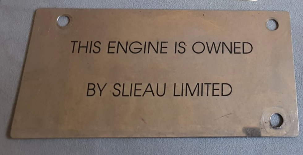 Virgin Atlantic B747 G-VCAT engine no 4 owner plate