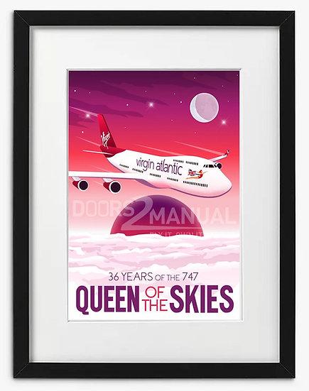 Virgin Atlantic 747 36 years of Queen of the skies print
