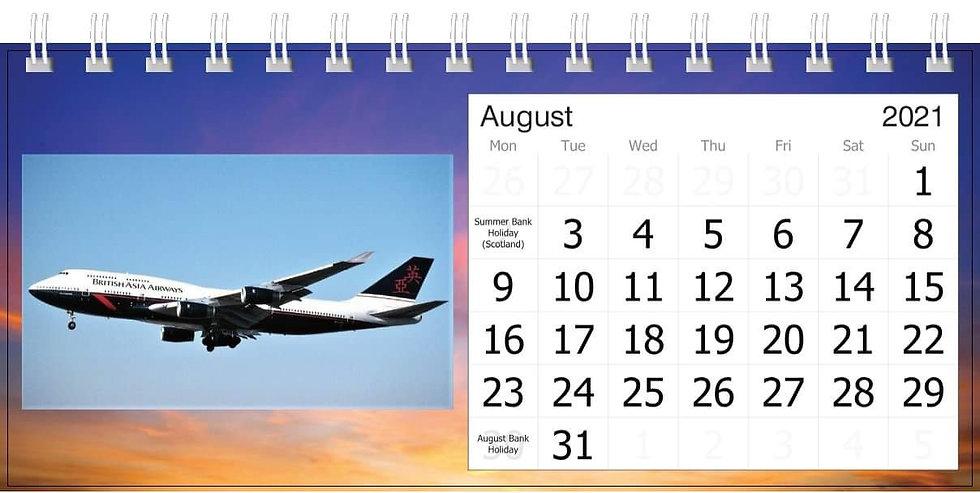BA 747 farewell desk calendar