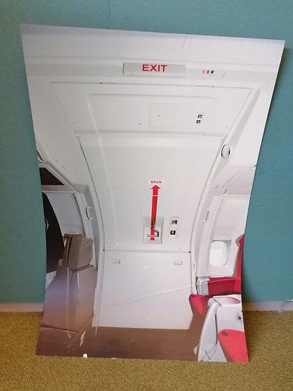 sim cardboard training door- 747 upper deck