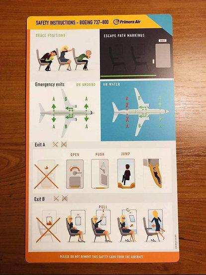 Primera Air 737 safety card