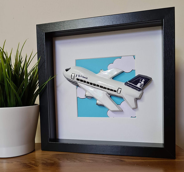 Britannia Airways hand made plaster of Paris frame