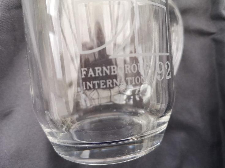 Farnborough Air Show 1992 glass tankard