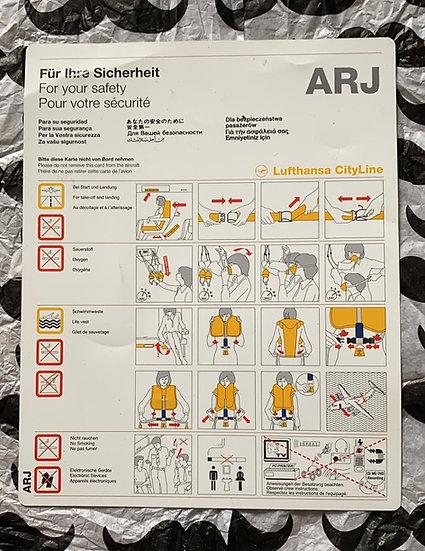 Lufthansa Cityline ARJ safety card