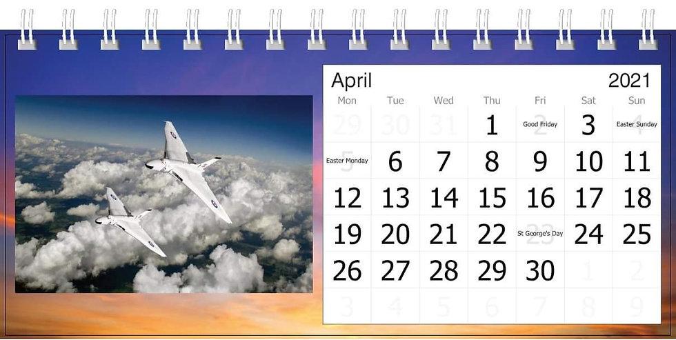 Custom made desk calendar