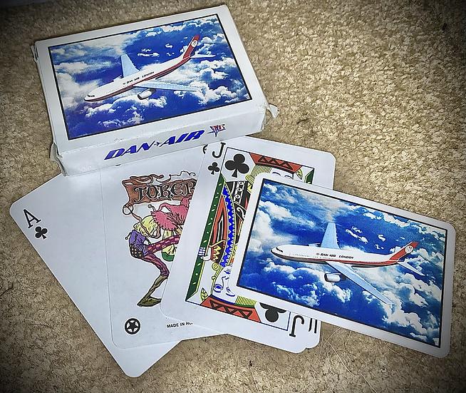 Dan Air A300 playing cards