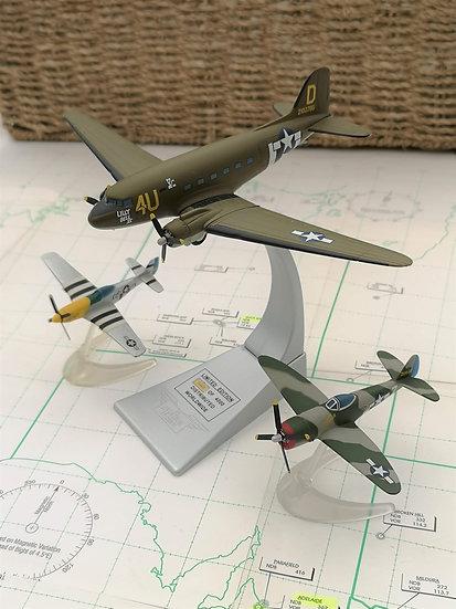 Douglas C-47 / P-47D / P-51D 60th D-day Anniversary model set