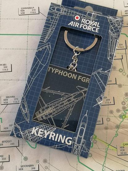 RAF Typhoon fighter key ring