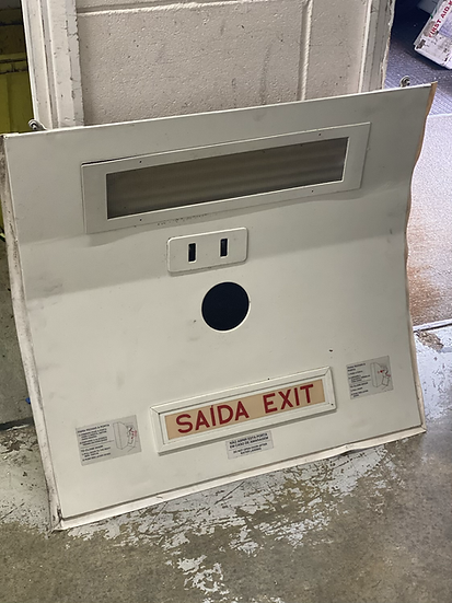 Embraer ceiling panel with exit sign