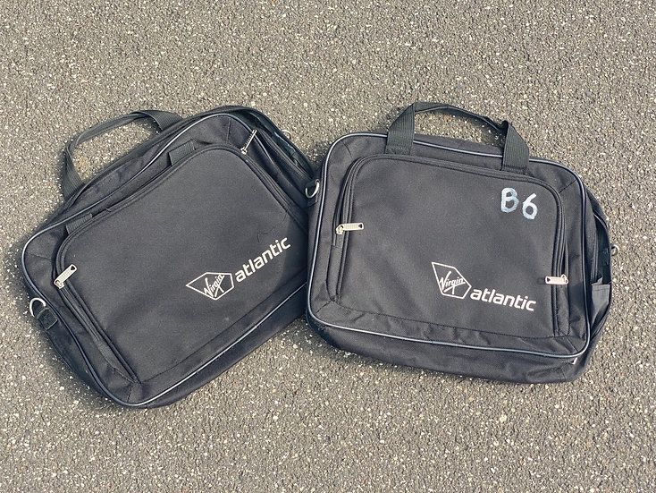 Retro Virgin Atlantic laptop bag
