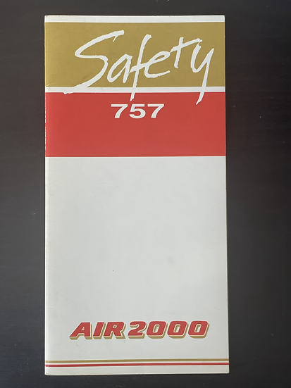 Air2000 757 safety card