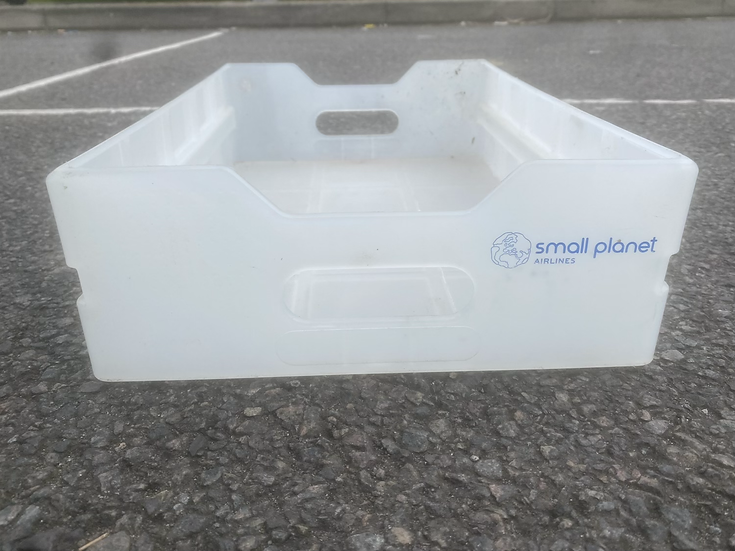 Small Planet Airlines trolley drawer