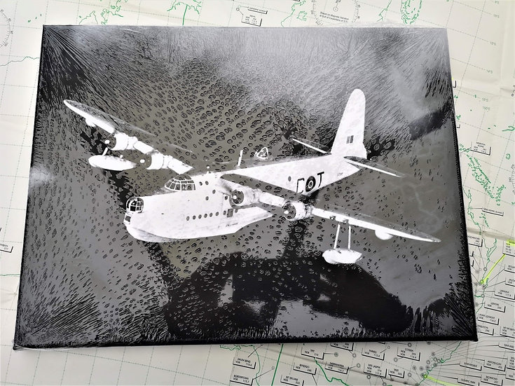 Sunderland Flying boat canvas 40x30cm