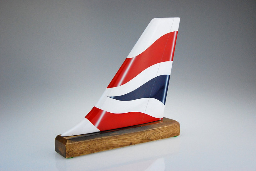 British Airways hand carved and hand painted aircraft tail fin