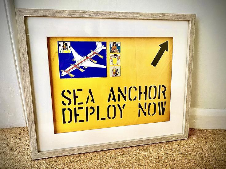 """Anchor"" life-raft material framed art"