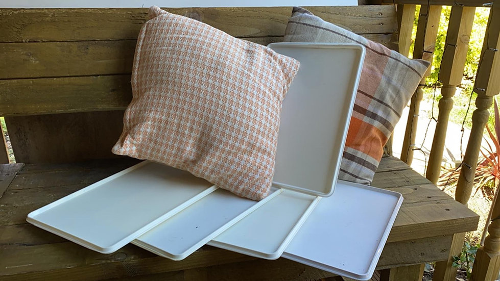 Airline cabin serving trays