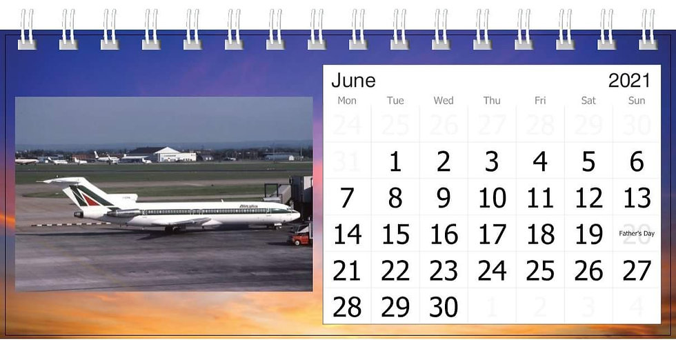 Alitalia desk calendar