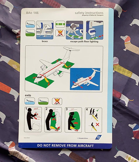SN Brussels Airlines operated by DAT Bae146 safety card