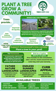 Native Tree Planting for Homewood Residents