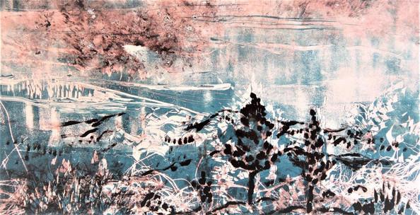 Water. Monotype. 57X35 cm.