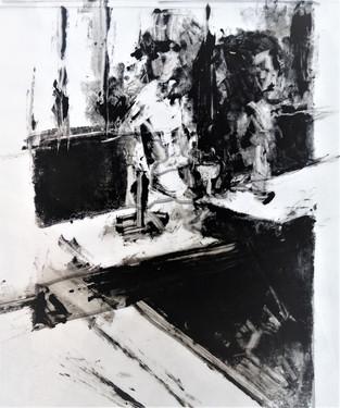 Absinthe. According to Degas. 18X28 cm. 2020