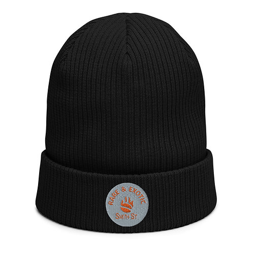 Rare and Exotic Organic ribbed beanie