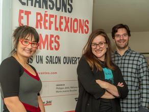 Article de Plume Libre Montcalm sur le projet : Chansons et réflexions intimes, dans un salon ouvert