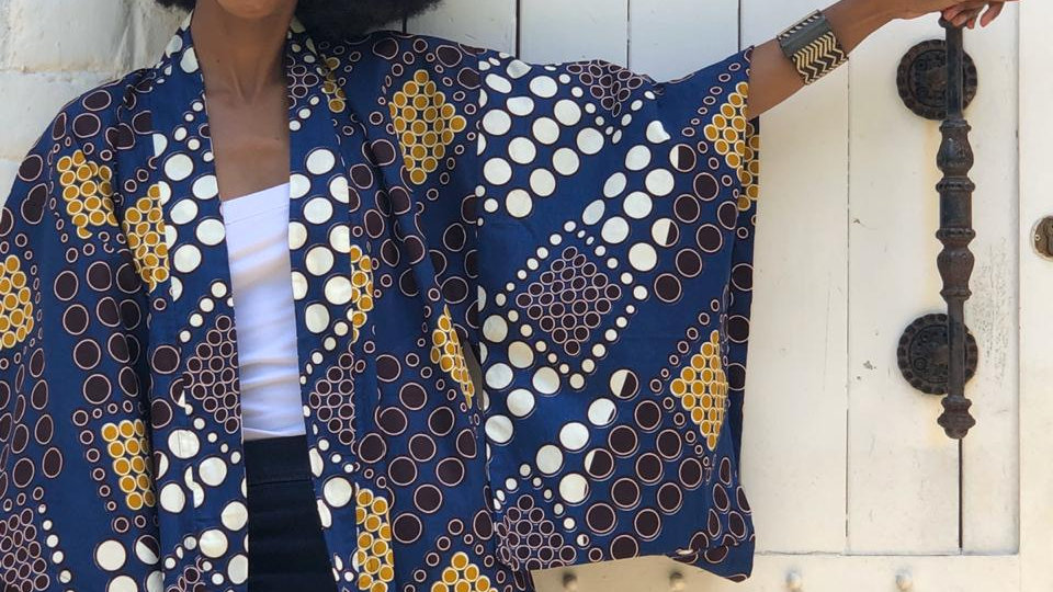 Kimono with an African twist