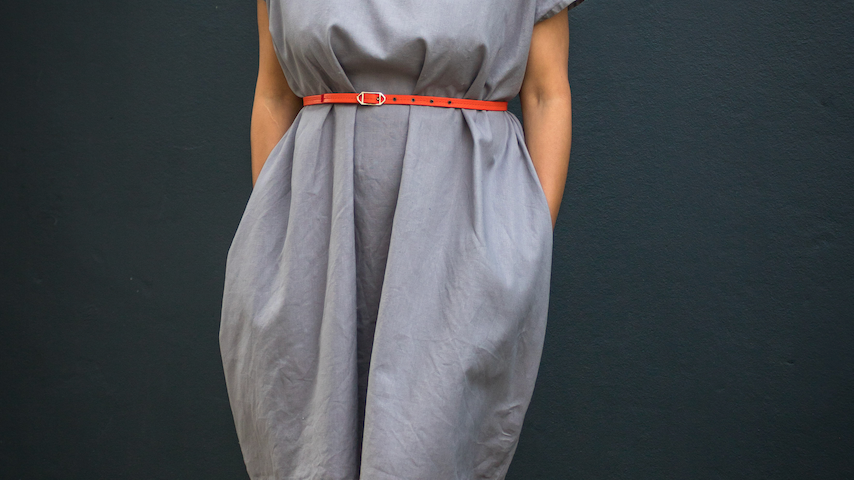 Grey Linen Shift Dress
