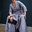 Thumbnail: Grey Linen Wrap Dress