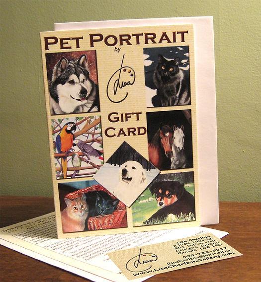 Pet Portrait Gift Card
