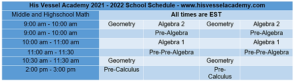 Schedule for upper levels.PNG