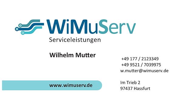 Visitenkarte WiMuserv  Wilhelm Mutter