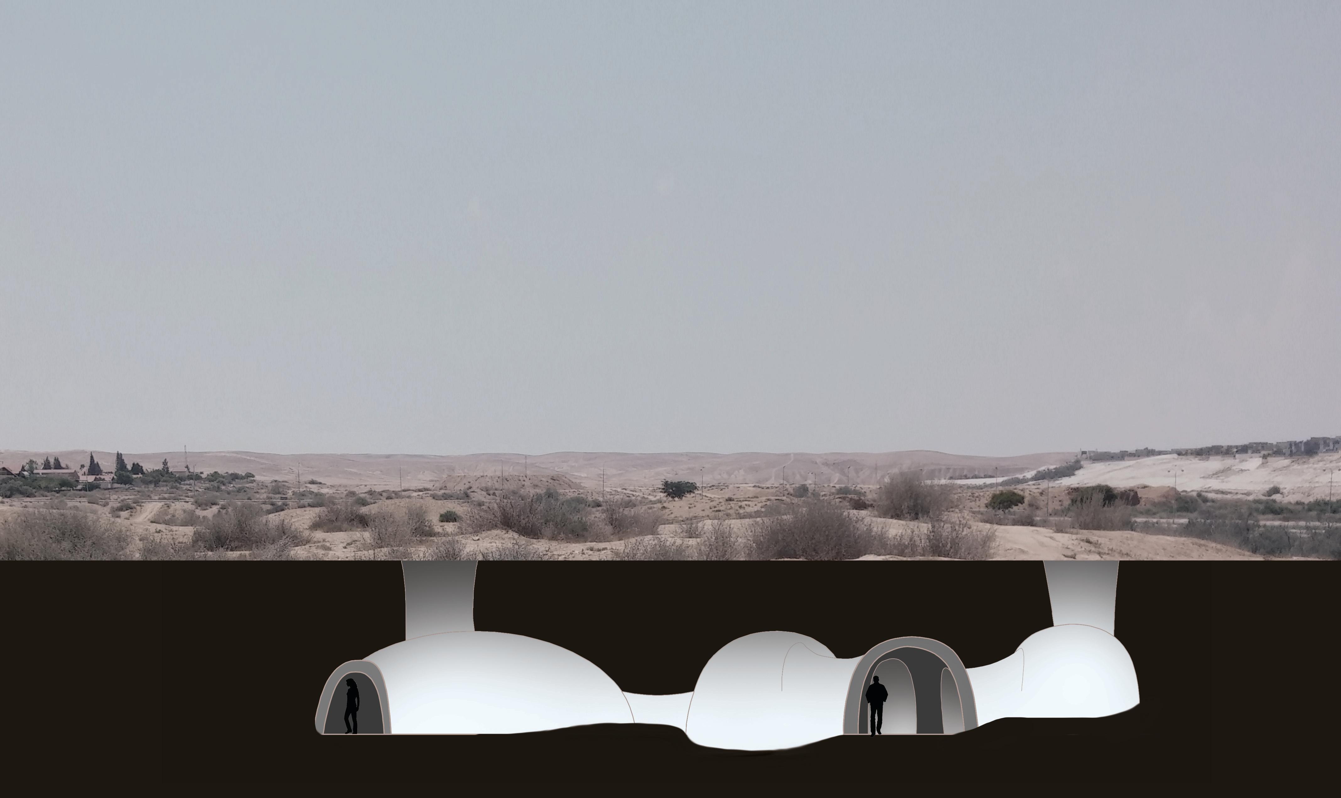 הדמיית מגורים בשטח ארכיאולוגי