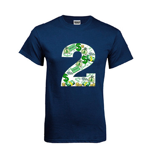 Navy T Shirt '2utors2you Financial'