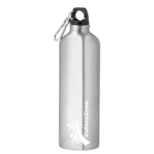 Venture Aluminum Silver Bike Bottle 26oz '2utors2you'
