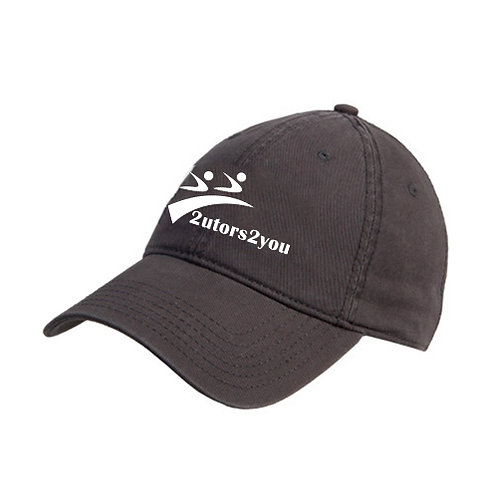 Charcoal Twill Unstructured Low Profile Hat '2utors2you'