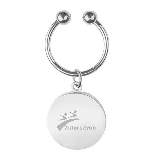 Olivia Sorelle Silver Disc Key Chain '2utors2you'