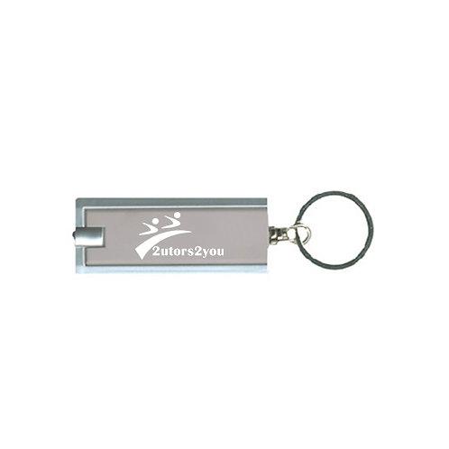 Turbo Silver Flashlight Key Holder '2utors2you'