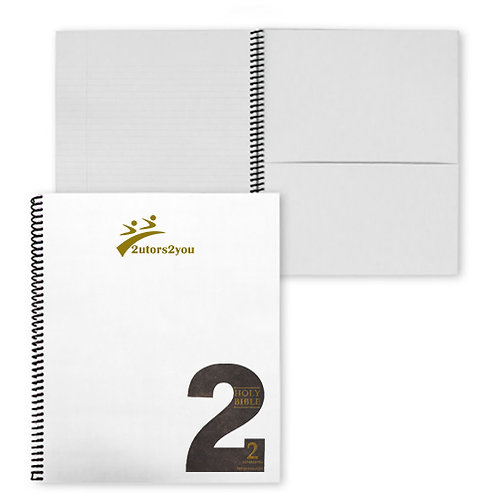College Spiral Notebook w/Black Coil '2utors2you Bible'