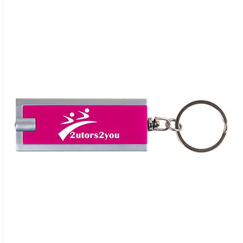 Turbo Pink Flashlight Key Holder '2utors2you'