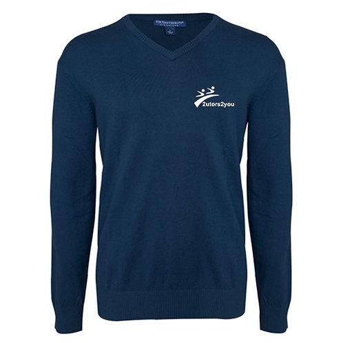 Classic Mens V Neck Navy Sweater '2utors2you'