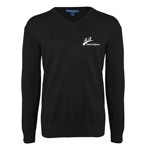 Classic Mens V Neck Black Sweater '2utors2you'