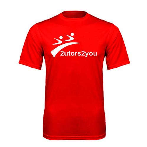 Performance Red Tee '2utors2you'