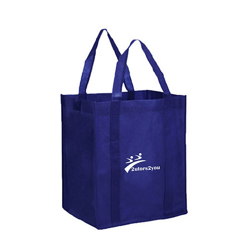Non Woven Navy Grocery Tote '2utors2you'