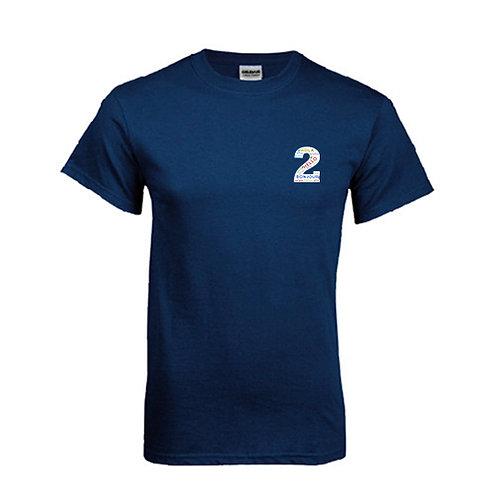 Navy T Shirt '2utors2you Language'