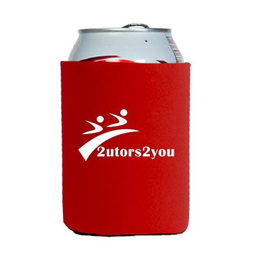 Neoprene Red Can Holder '2utors2you'